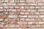 Fotografia Vecchia parete con sfondo di mattoni rotti