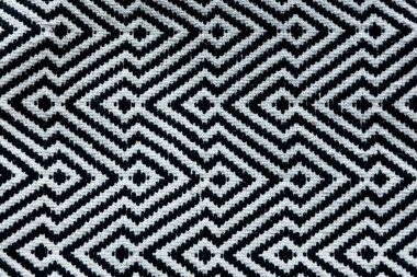 Black and white rug pattern background