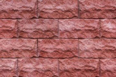 Red stone bricks texture background stock vector