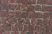 Photo Red squared stones road surface