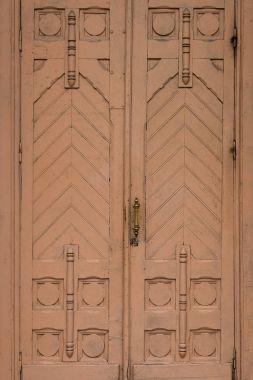 Wooden vintage doors texture background
