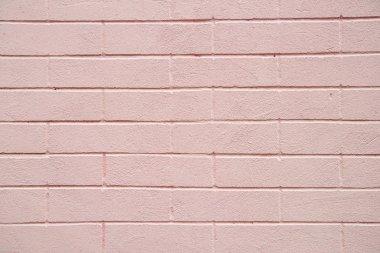 Pink bricks wall texture background