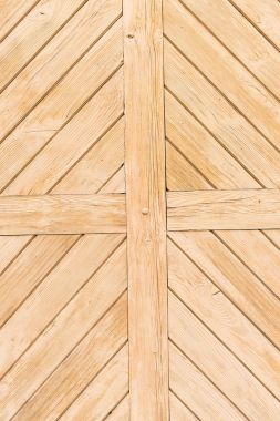 Old painted beige wooden planks