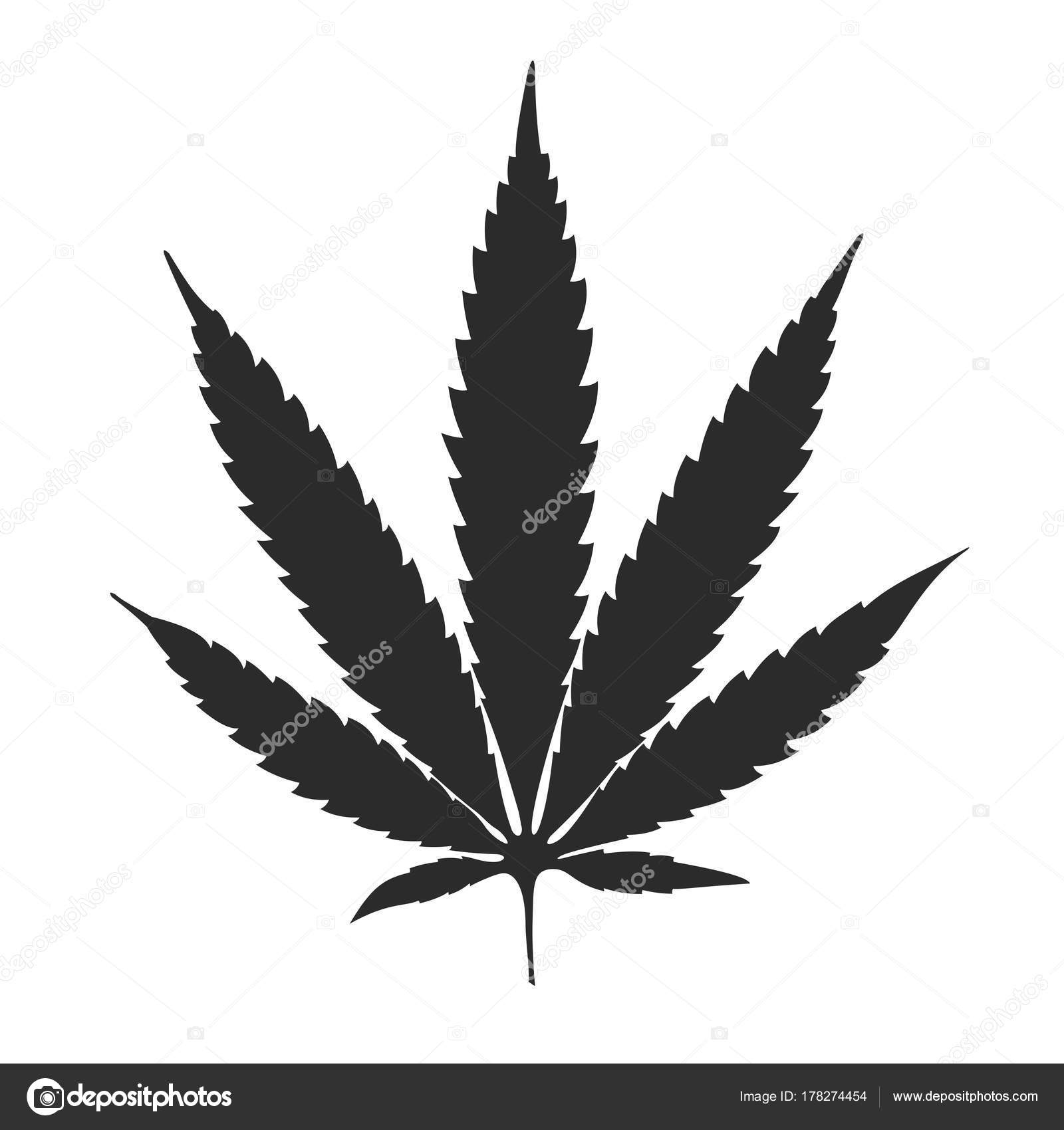 cannabis leaf black white background vector illustration stock vector c mironovkonstantin 178274454 https depositphotos com 178274454 stock illustration cannabis leaf black white background html