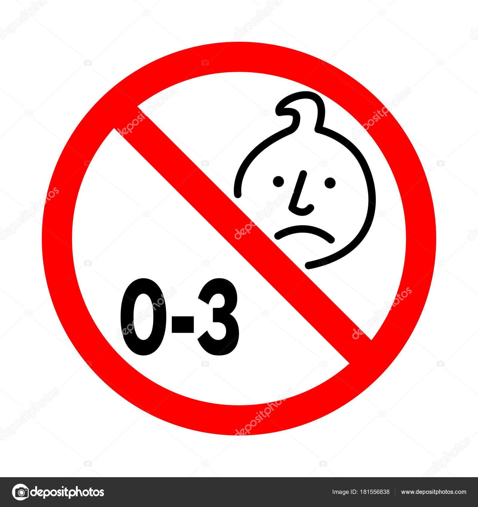Wonderful Suitable Children Years Choking Hazard Forbidden Sign Sticker  KU91