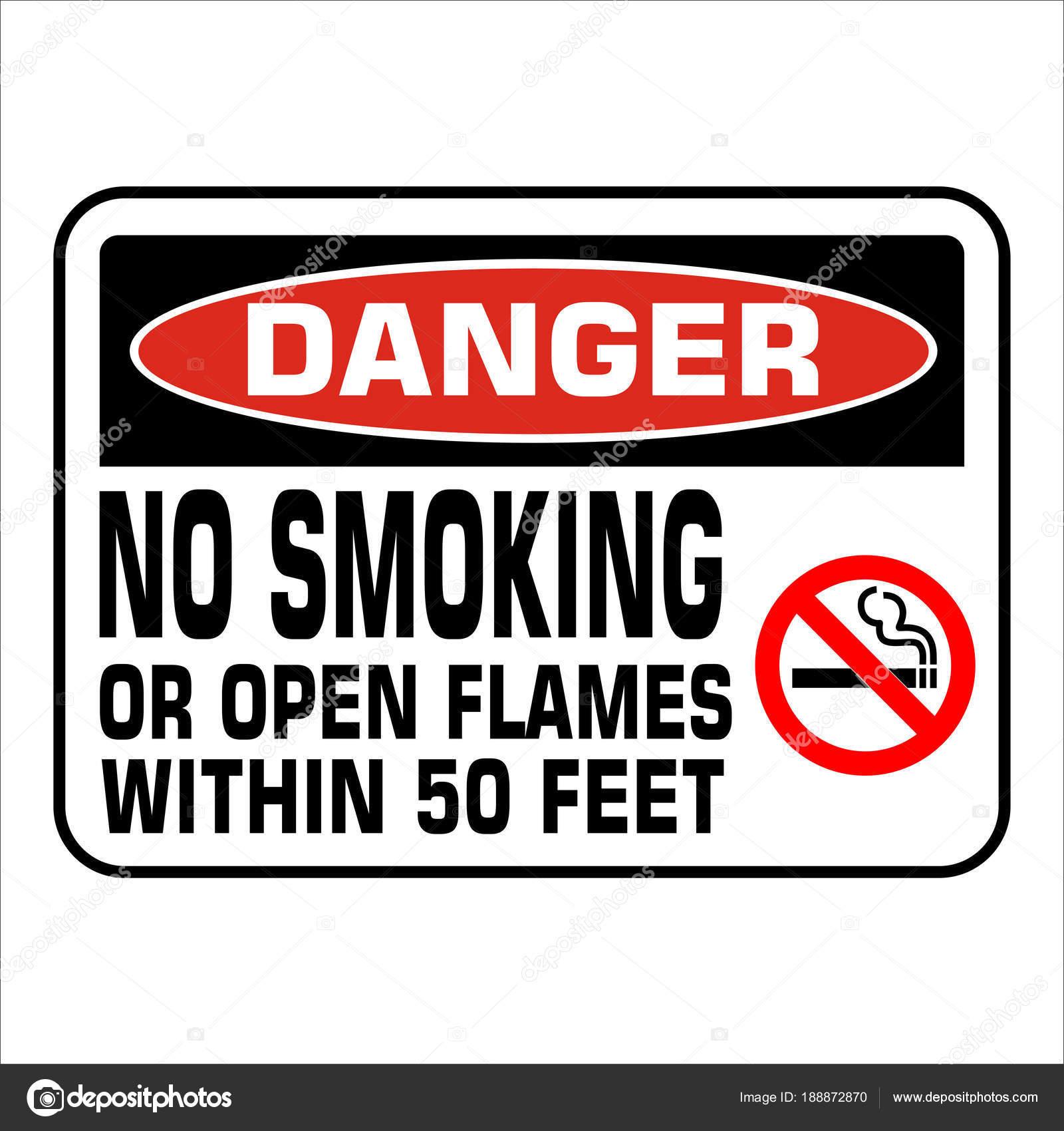 Aucun Panneau Interdit Fumer Prohobition Vector Illustration