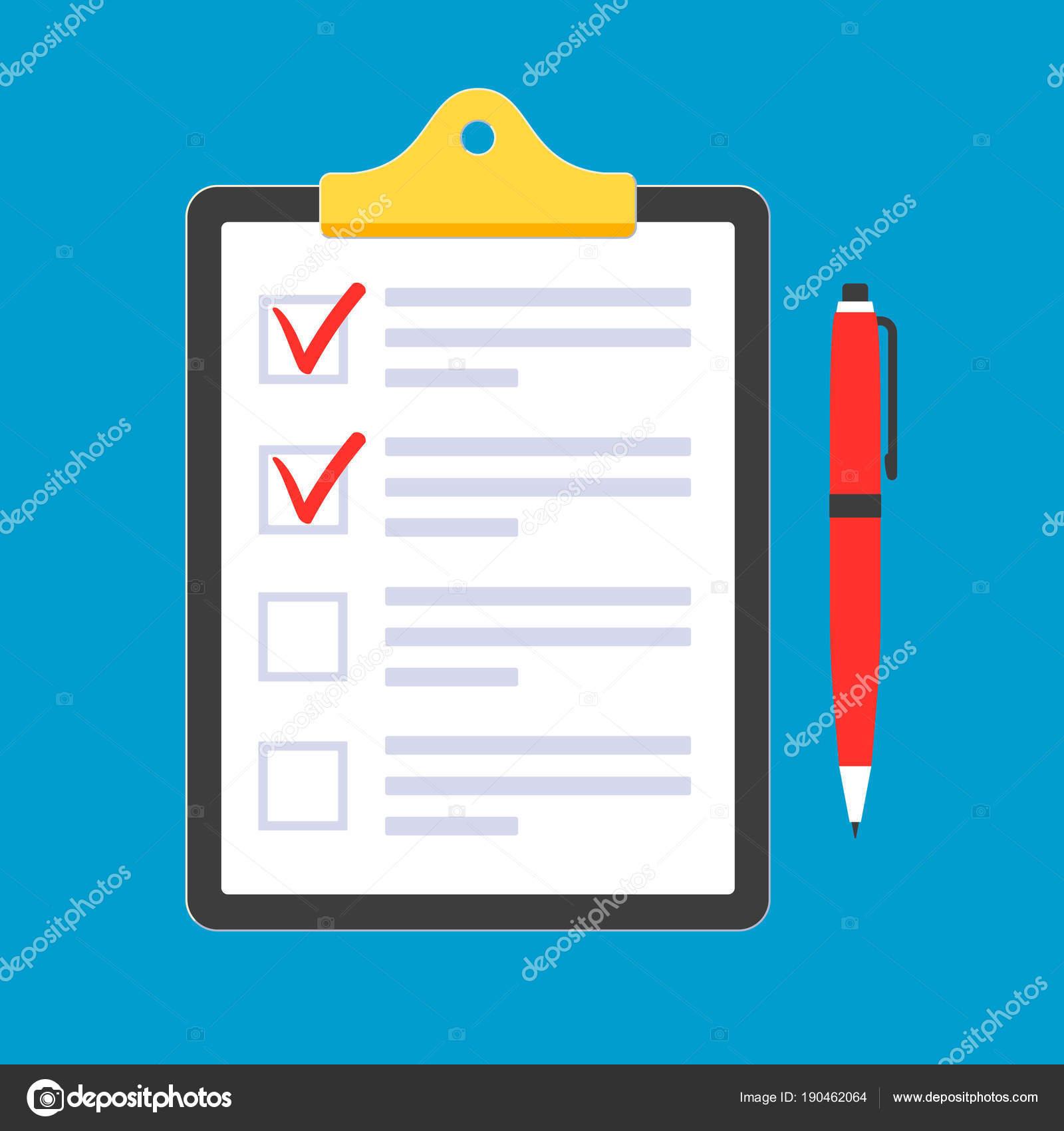 クリップボードとリストそれの請求書フォームを行うに紙のシート 明るい