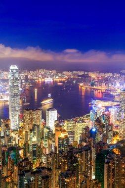 Hong Kong Victoria Harbor night view