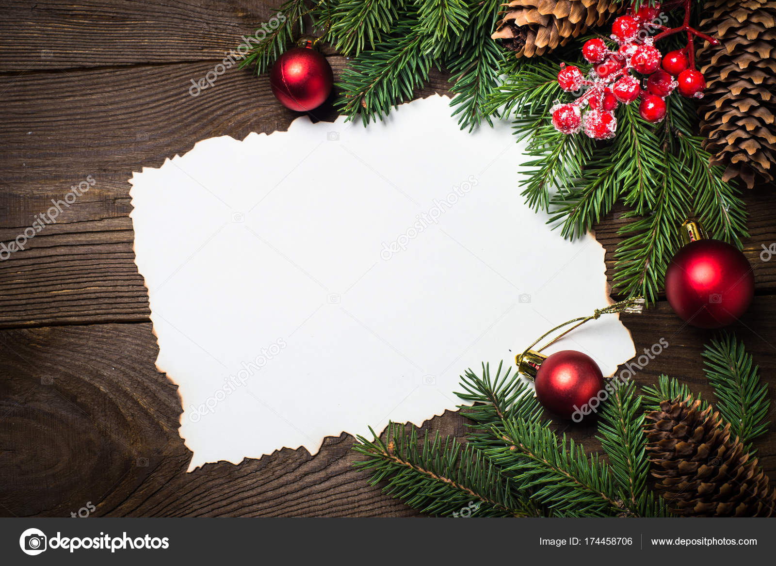 foglio decoro natalizio