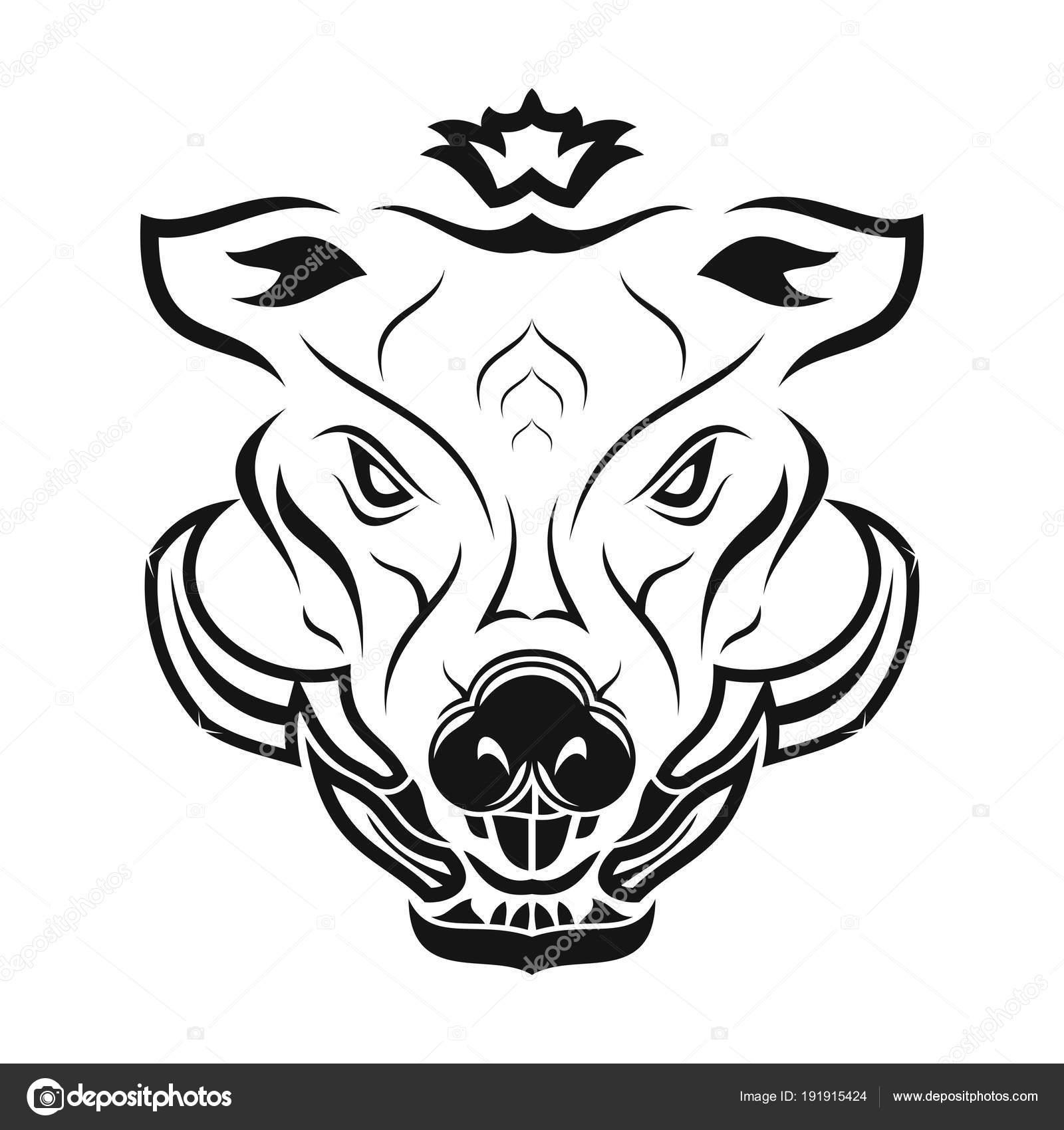 Wild Boar Stock Vector Balashovmihail38ail 191915424