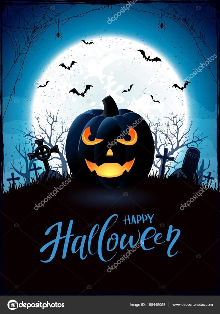 Halloween Thema.Halloween Thema Met Jack O Lantern Op Begraafplaats