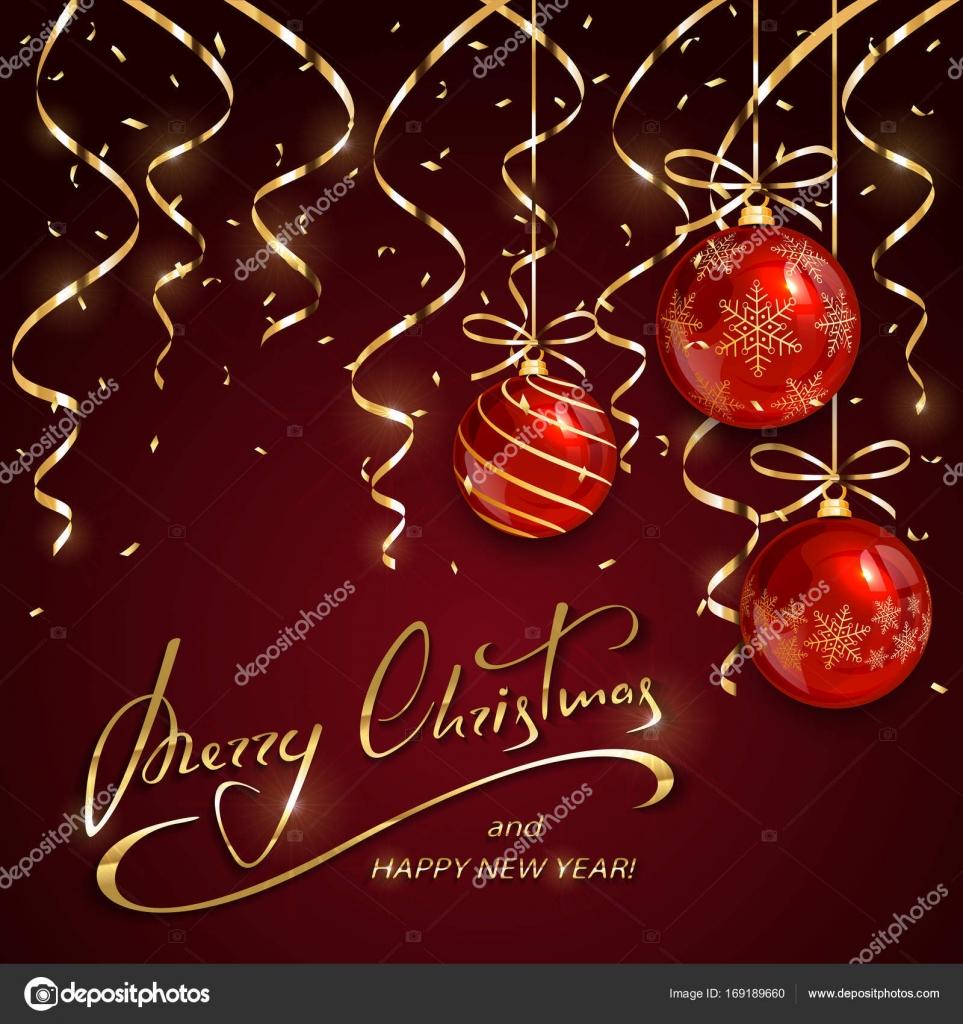 Schriftzug Frohe Weihnachten Beleuchtet.Weihnachten Und Silvester Schriftzug Mit Roten Kugeln Und