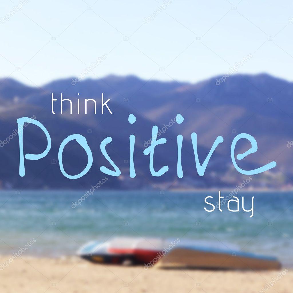 Позитивное мышление цитаты. Подумайте и оставайтесь