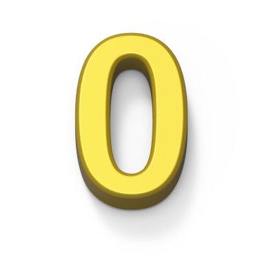 Matte gold number 0
