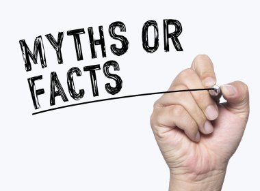 myth fact written by hand