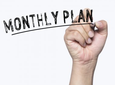 monthly plan written by hand