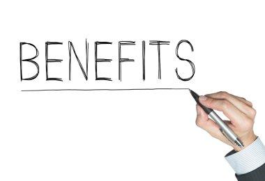 benefits written by hand