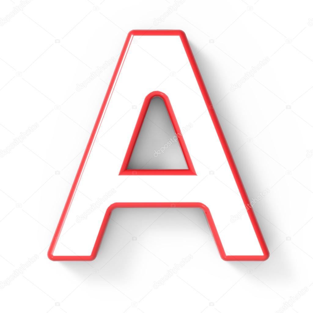 3D weiße Buchstaben A mit rotem Rahmen — Stockfoto © kchungtw #127935194