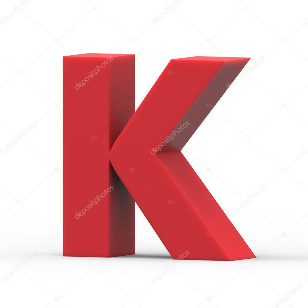 Prawo Czerwona Litera K Zdjęcie Stockowe Kchungtw 128060786