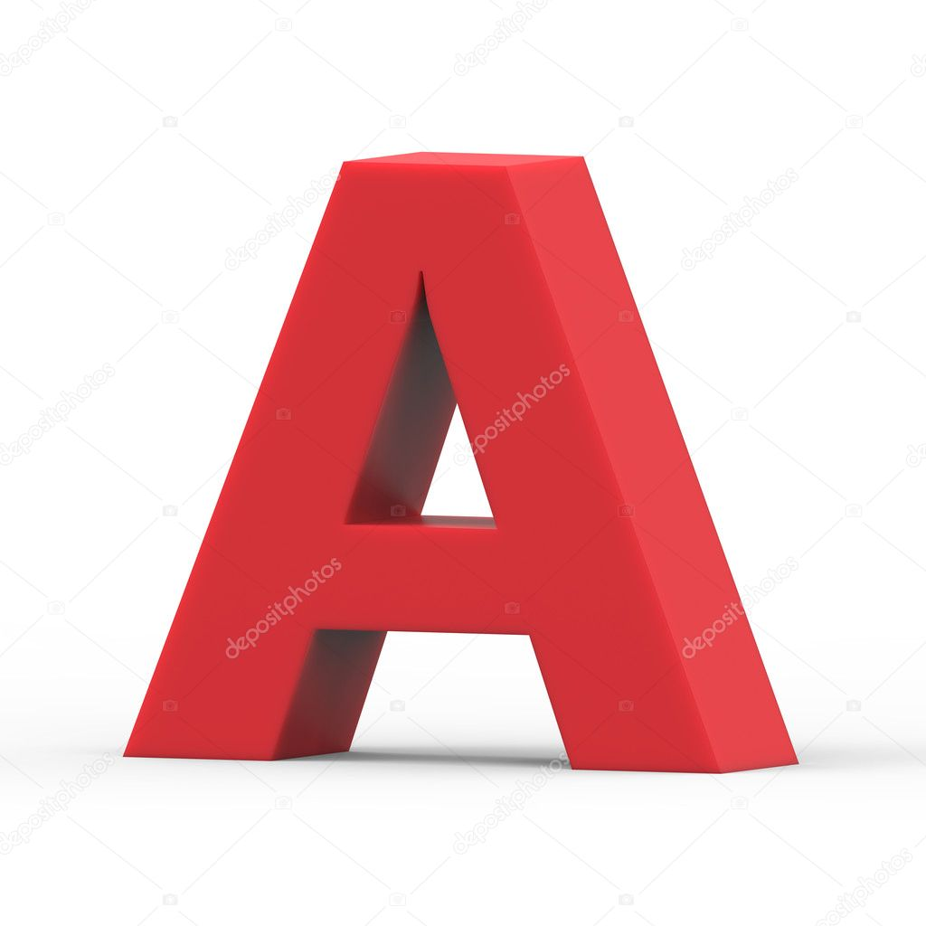 rechten roten Buchstaben A — Stockfoto © kchungtw #128065690