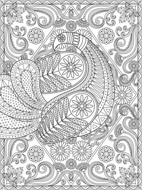 Splendid adult coloring page