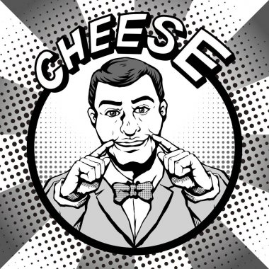 comic male cheese