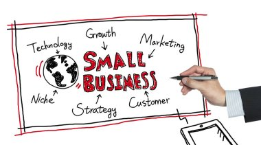 small business drawn by hand