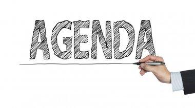agenda written by hand