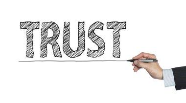 trust written by hand