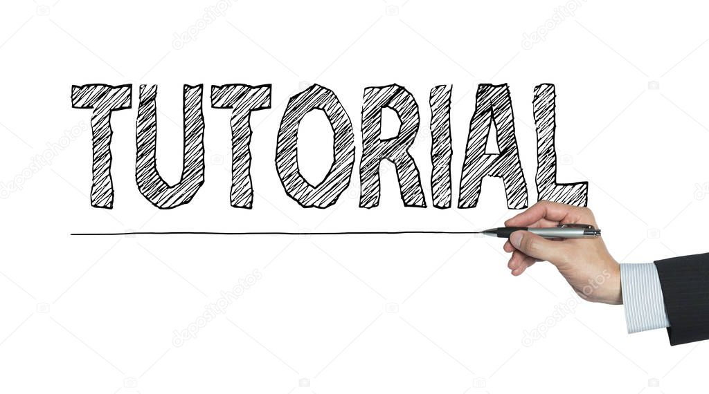 [Tutorial] Abrir inscrição Depositphotos_129155774-stock-photo-tutorial-written-by-hand