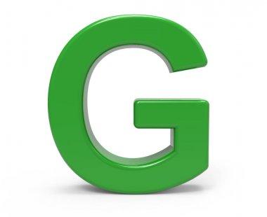 3d green letter G