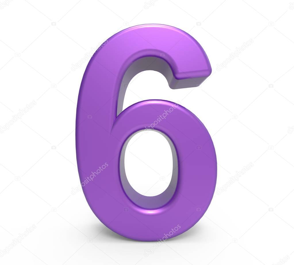 Foto 6 Foto 6: Número Púrpura 3D 6 — Foto De