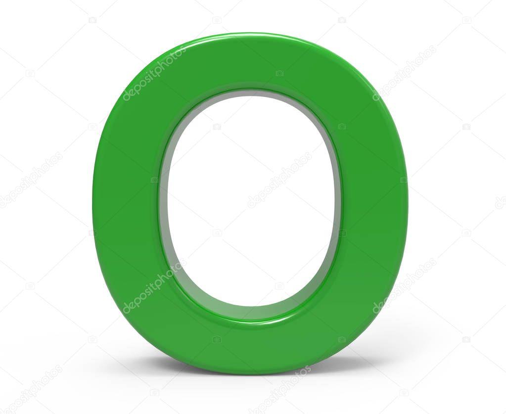 O Verde De La Letra 3D — Foto De