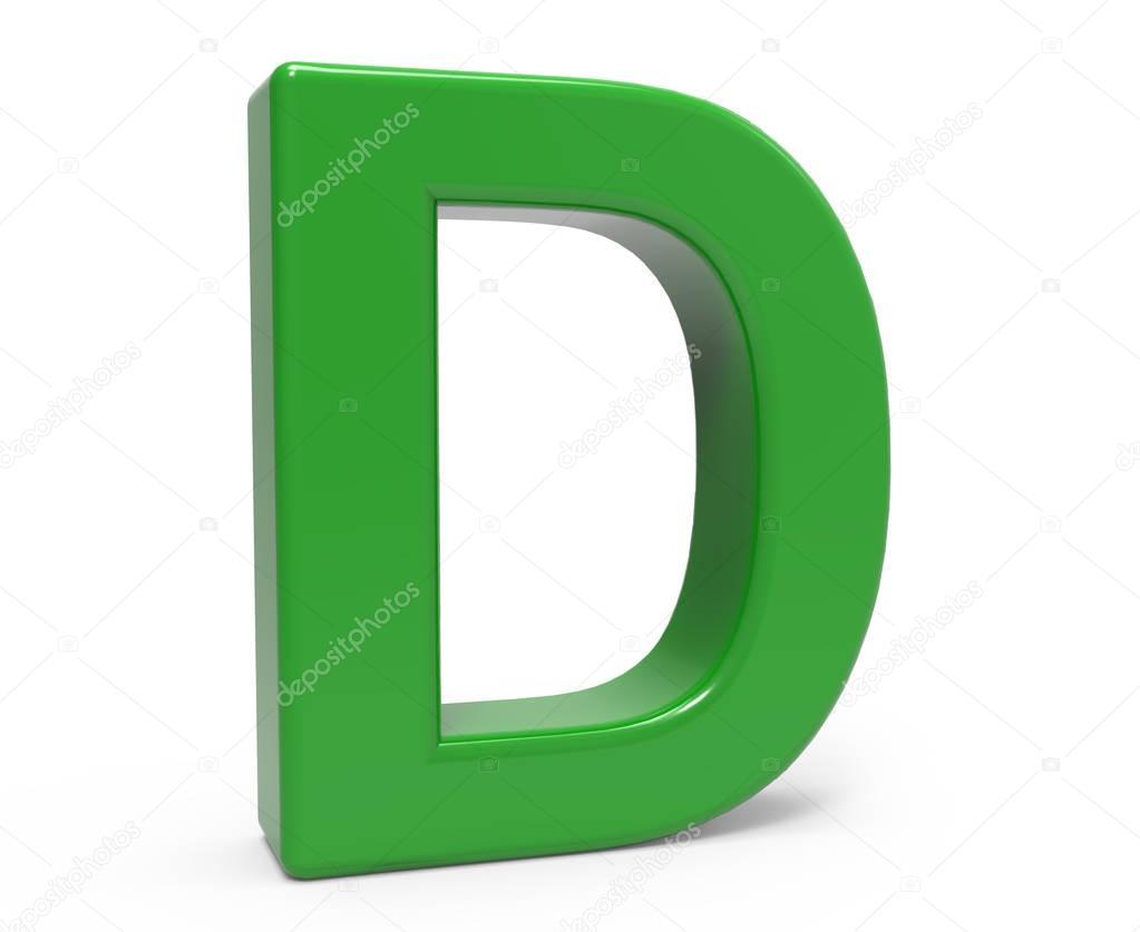 3d green letter D — Stock Photo © kchungtw #129759210