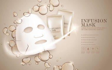 Facial mask ads template