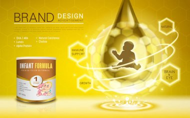 Infant formula advertisement