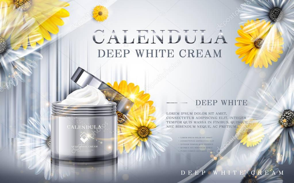 calendula deep white cream ad