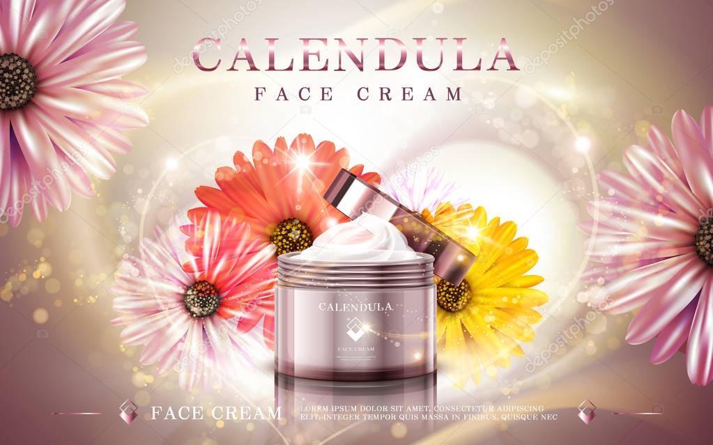 calendula facial cream ad