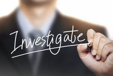 investigate written by hand