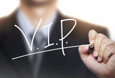 VIP written by hand