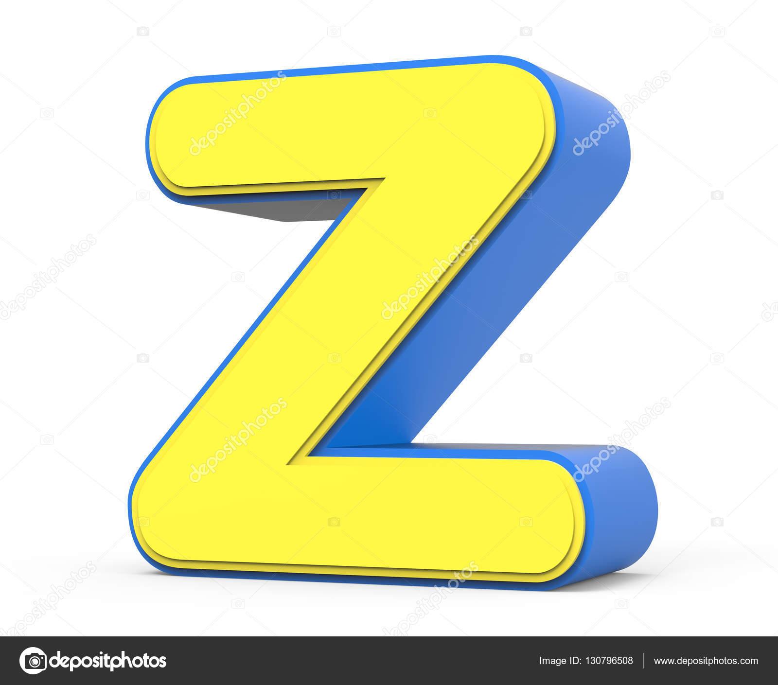 Cute Yellow Letter Z Stock Photo Kchungtw 130796508