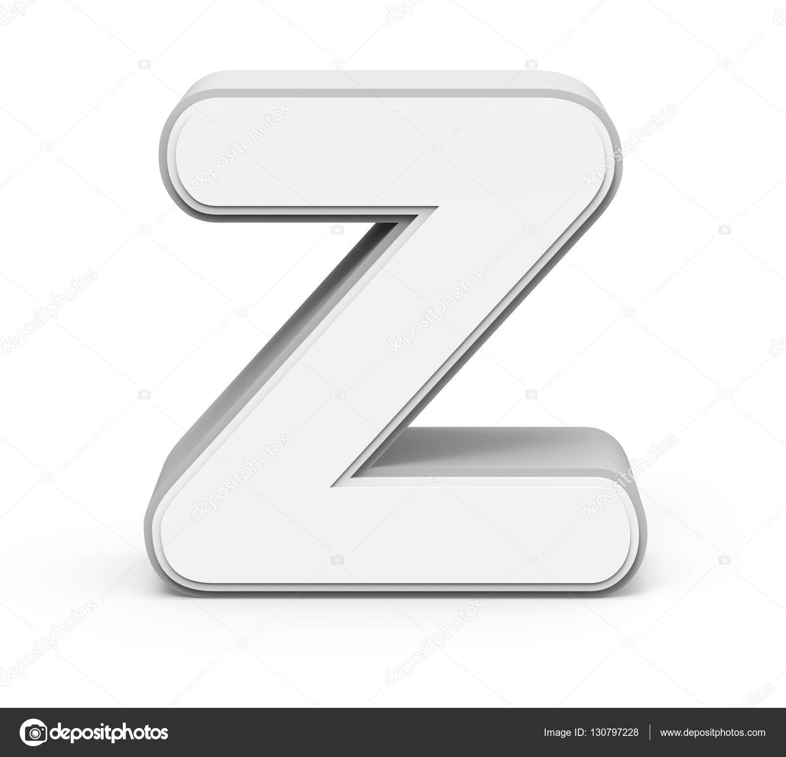 White Letter Z Stock Photo C Kchungtw 130797228
