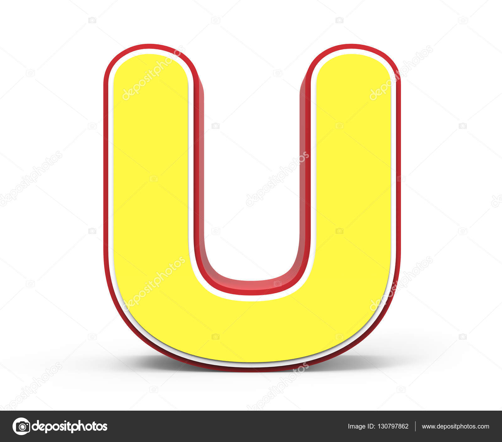 Stock Photo Yellow Letter U on Letter Y Video