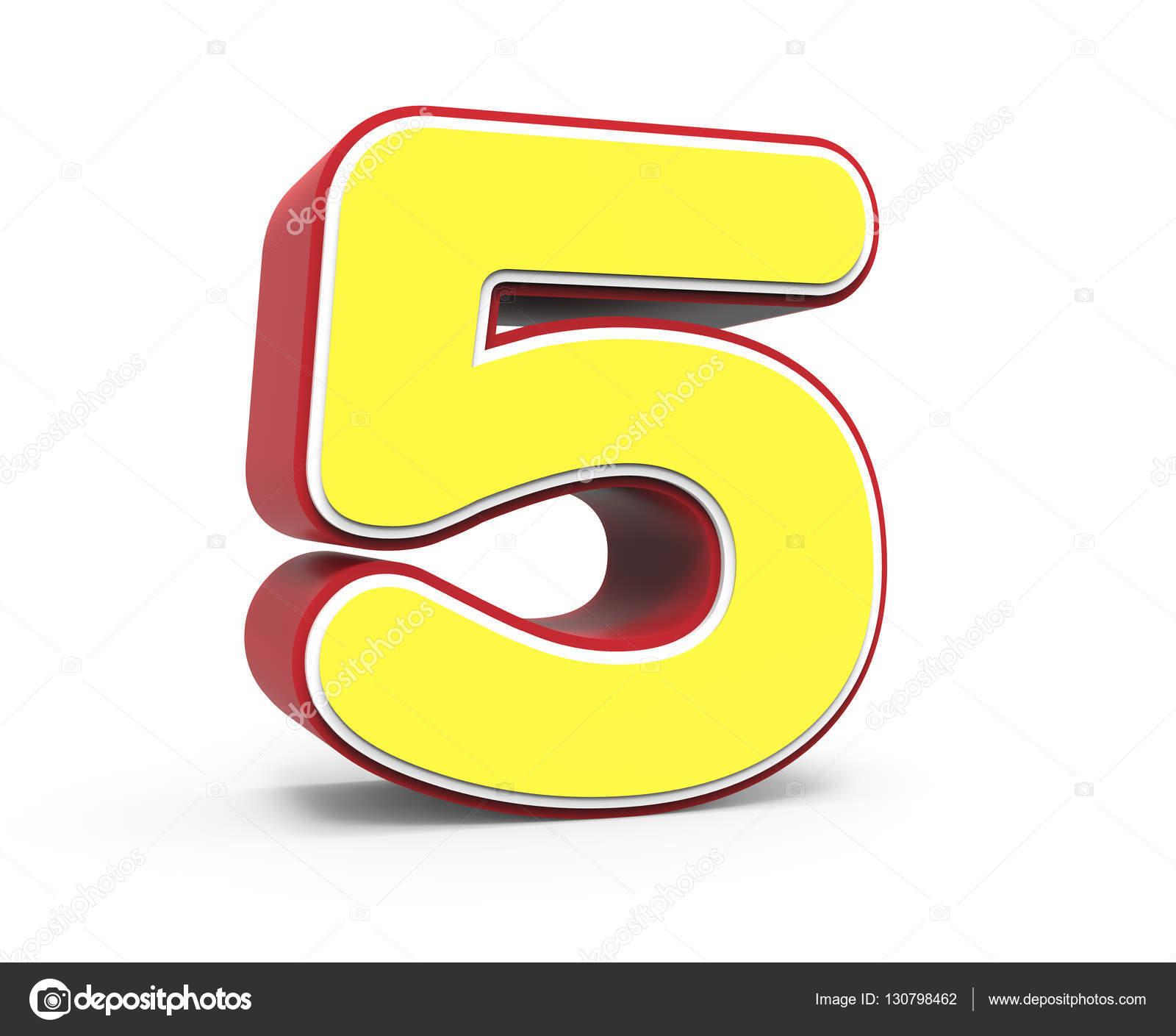imágenes numero 5 amarillo número 5 foto de stock kchungtw