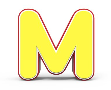 yellow letter M