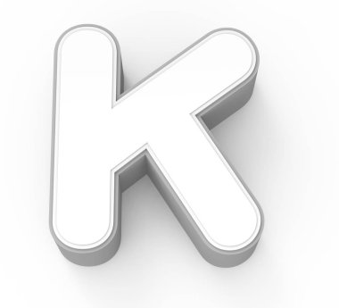 white letter K