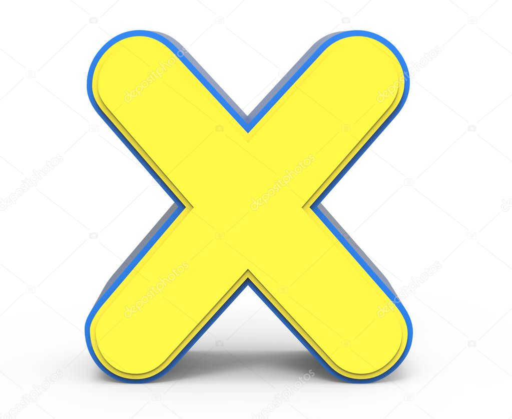 Cute Yellow Letter X  U2014 Stock Photo  U00a9 Kchungtw  130796246