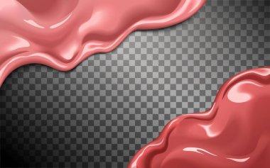 Glossy lip gloss texture