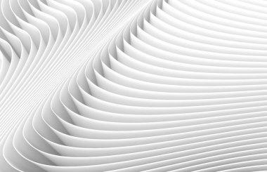 3D rendering wavy paper sheets