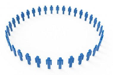 big circle of blue men images